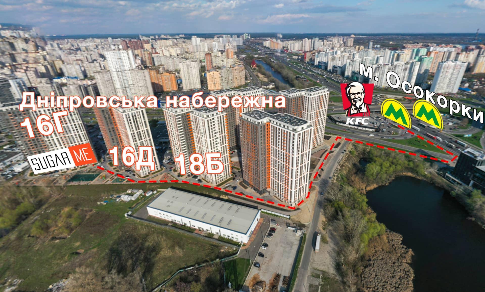 Шугаринг на Позняках - Карта